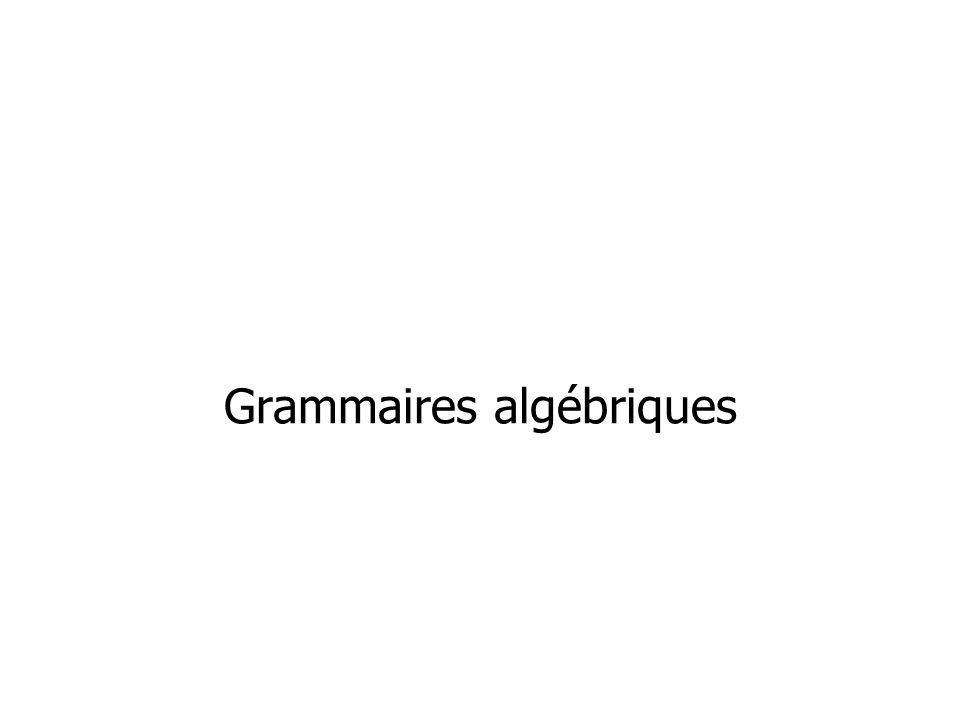 Grammaires algébriques
