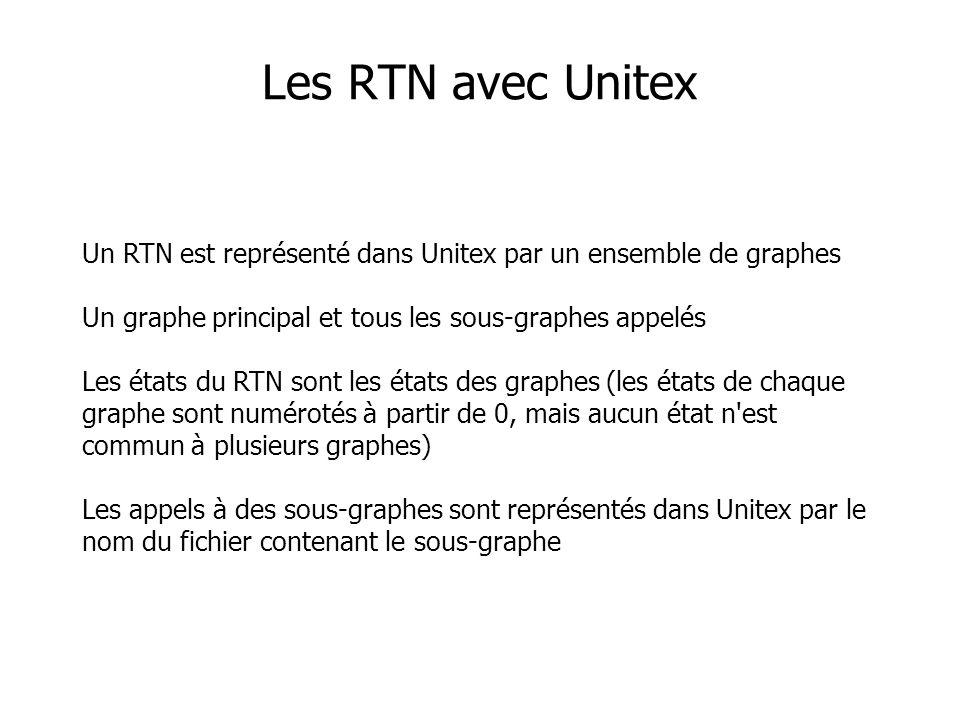 Les RTN avec Unitex