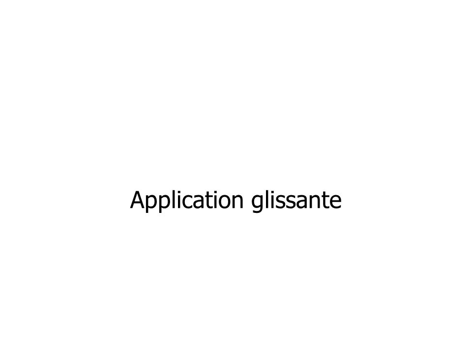 Application glissante