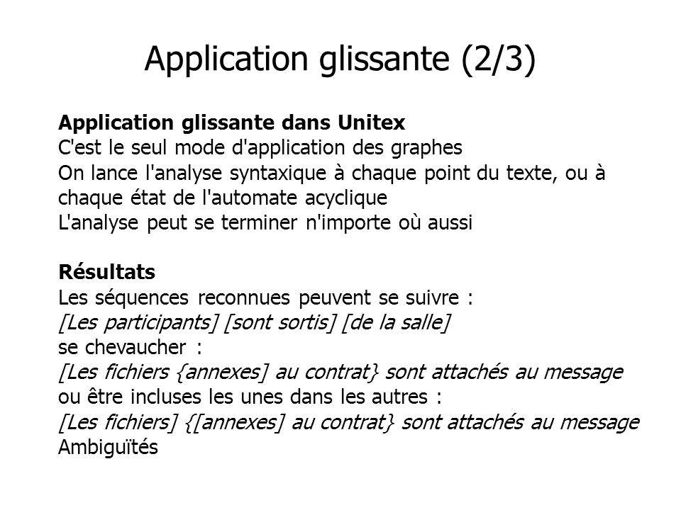 Application glissante (2/3)