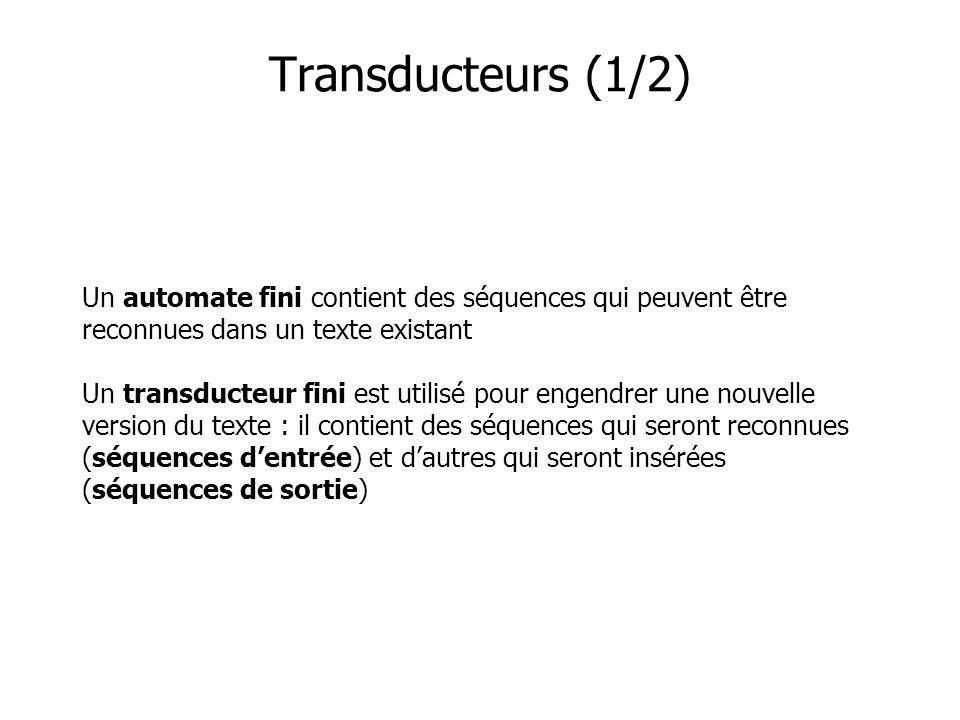 Transducteurs (1/2)