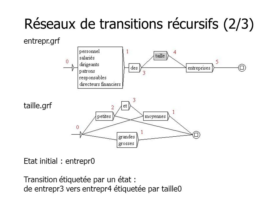 Réseaux de transitions récursifs (2/3)