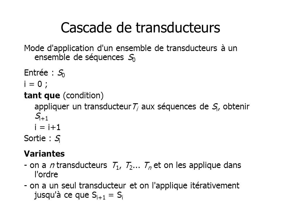 Cascade de transducteurs