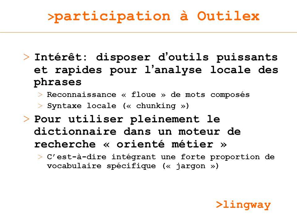 >participation à Outilex