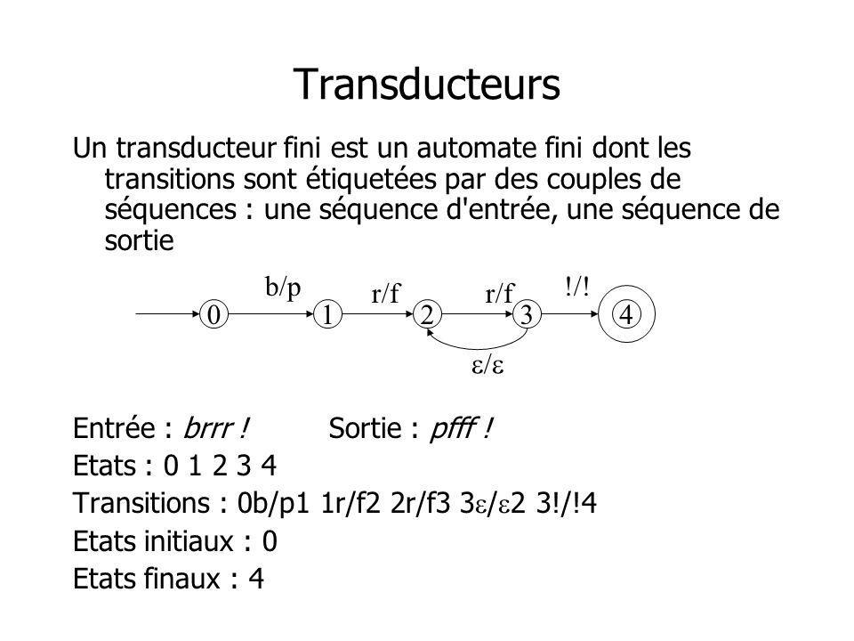 Transducteurs