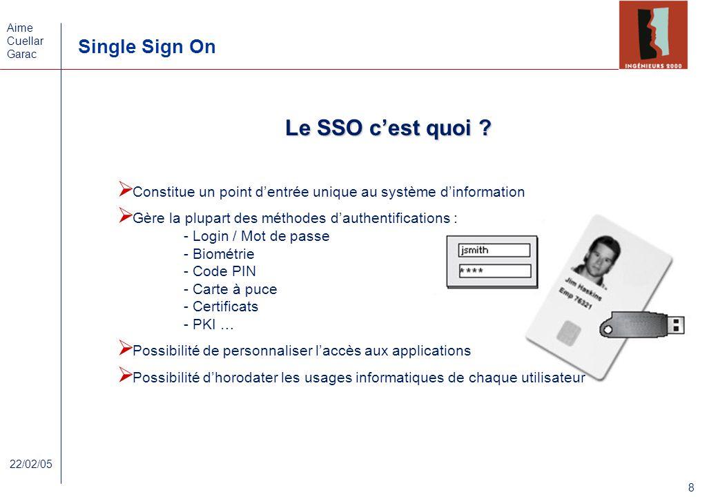 Le SSO c'est quoi Constitue un point d'entrée unique au système d'information. Gère la plupart des méthodes d'authentifications :