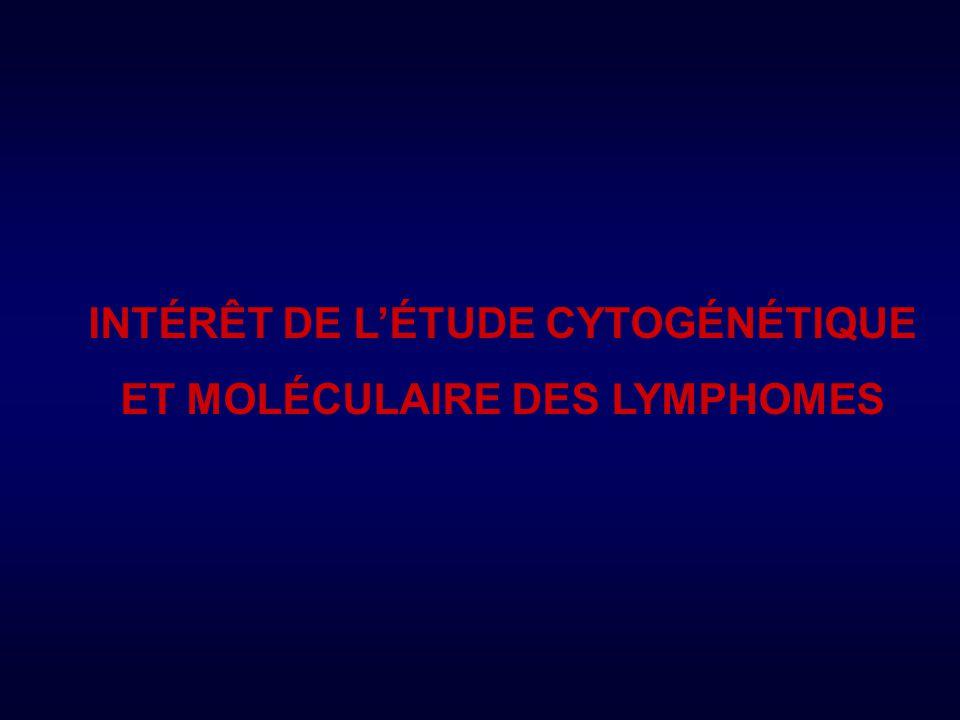 INTÉRÊT DE L'ÉTUDE CYTOGÉNÉTIQUE ET MOLÉCULAIRE DES LYMPHOMES