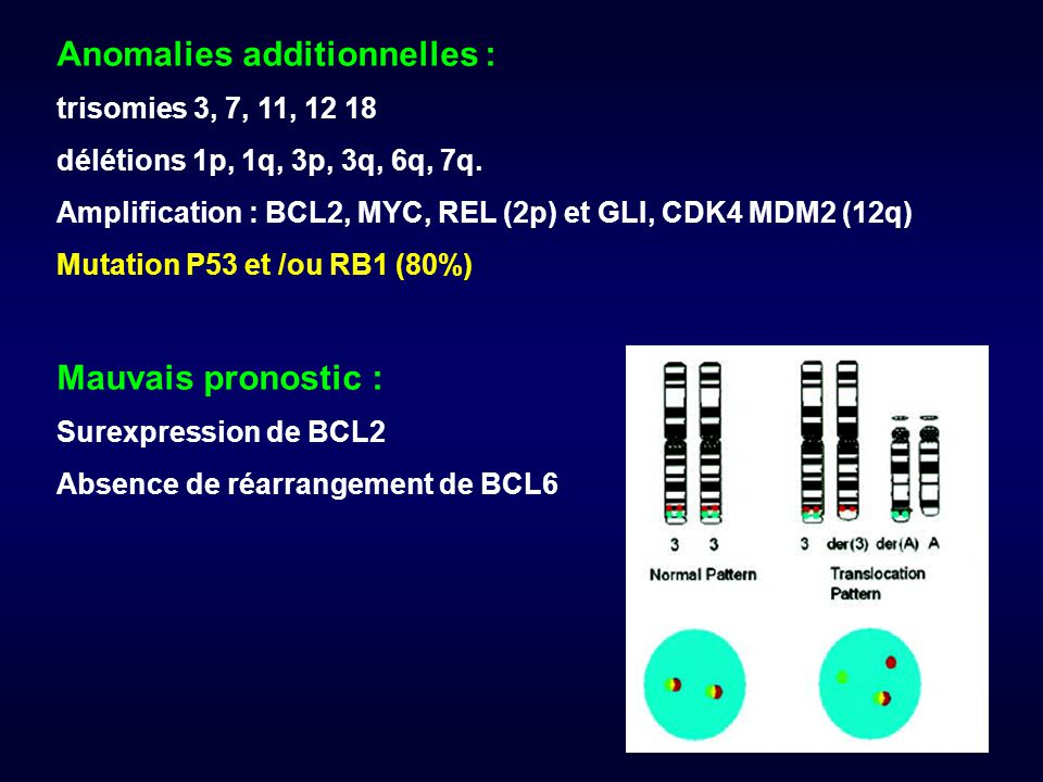 Anomalies additionnelles :