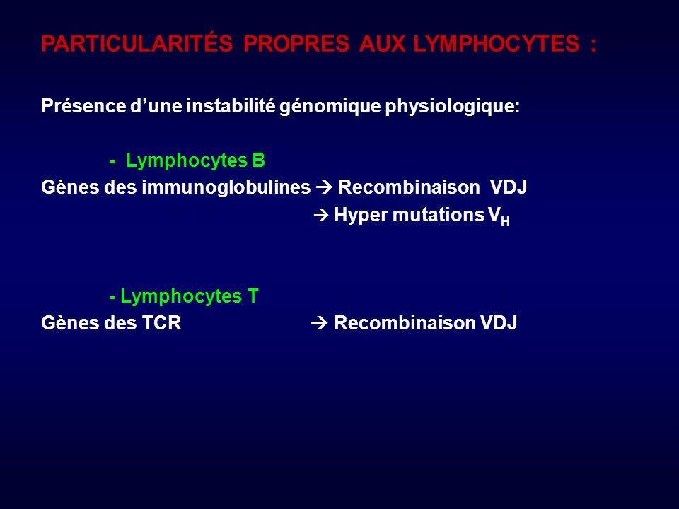 PARTICULARITÉS PROPRES AUX LYMPHOCYTES :