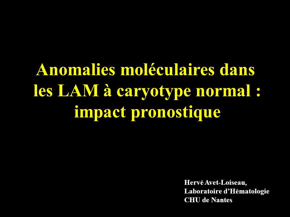 Anomalies moléculaires dans les LAM à caryotype normal :
