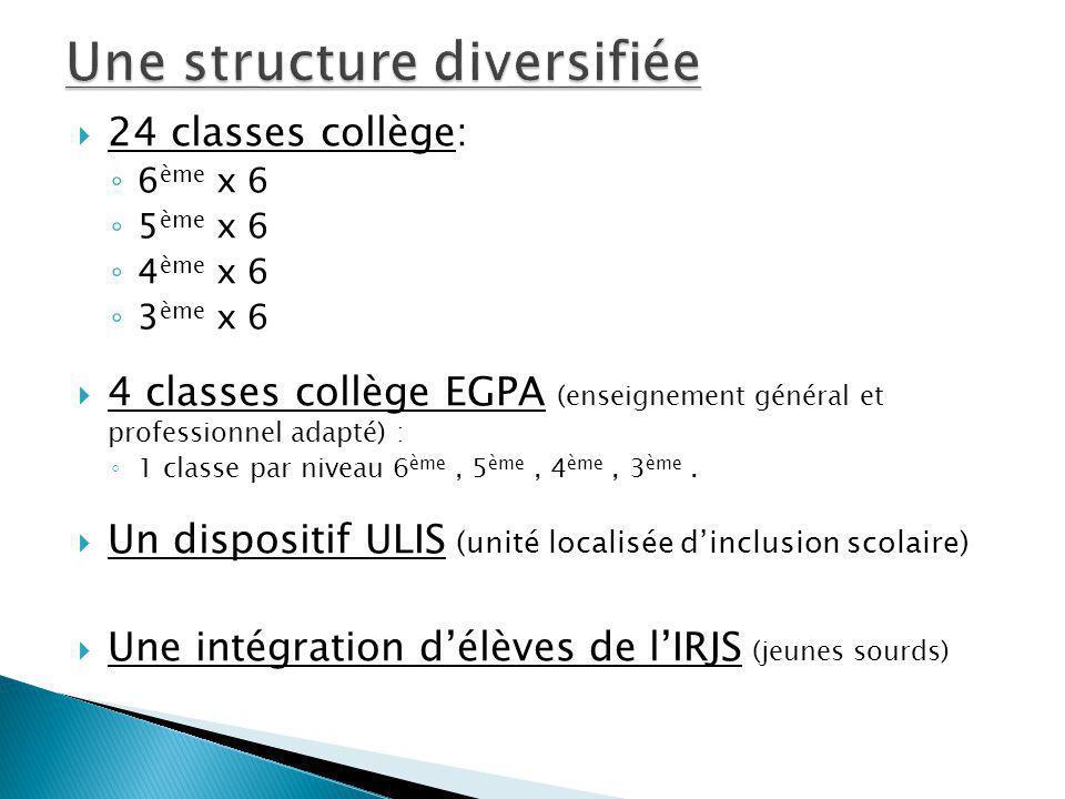 Une structure diversifiée