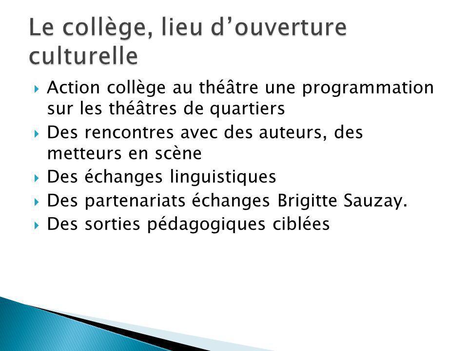 Le collège, lieu d'ouverture culturelle