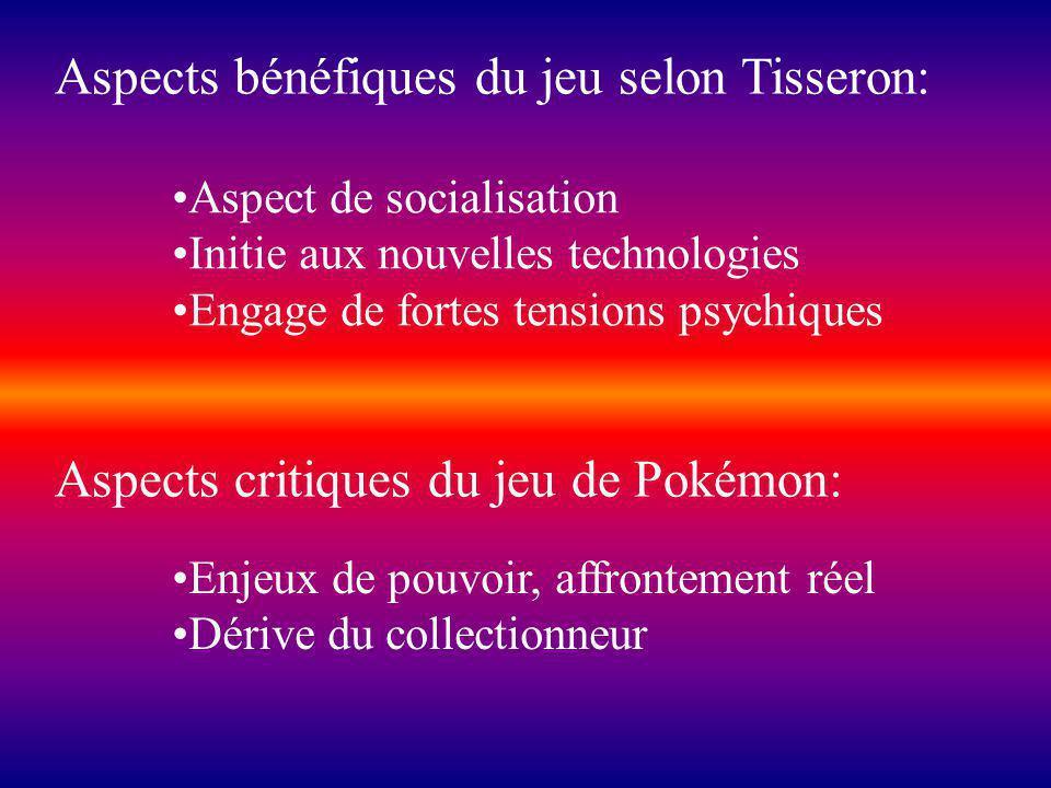 Aspects bénéfiques du jeu selon Tisseron: