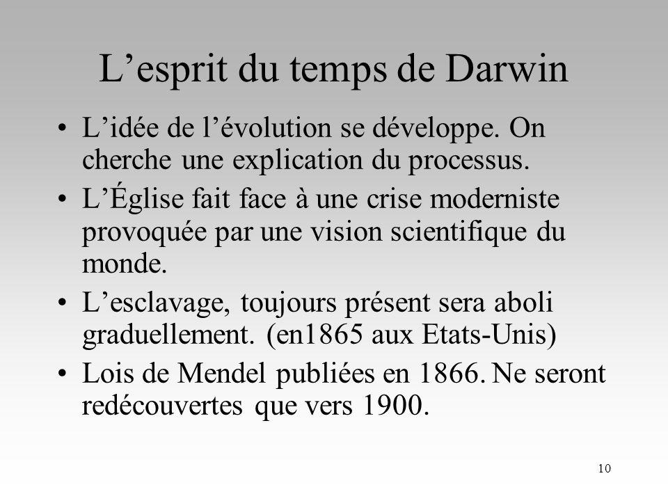 L'esprit du temps de Darwin