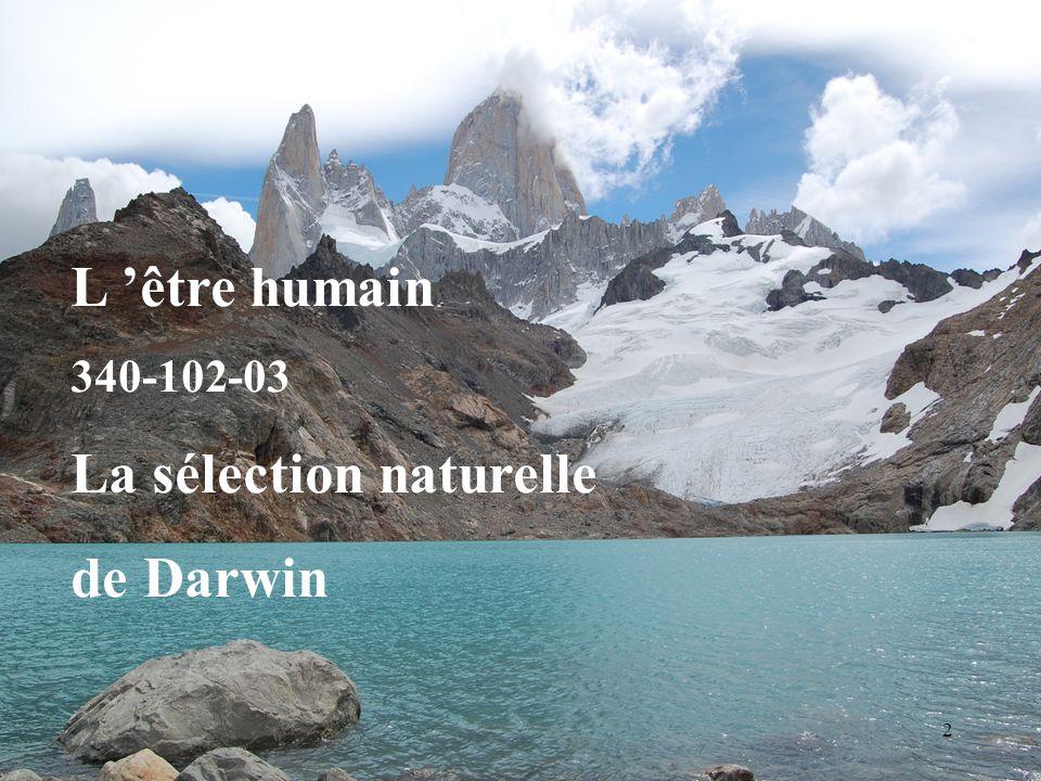 La sélection naturelle de Darwin