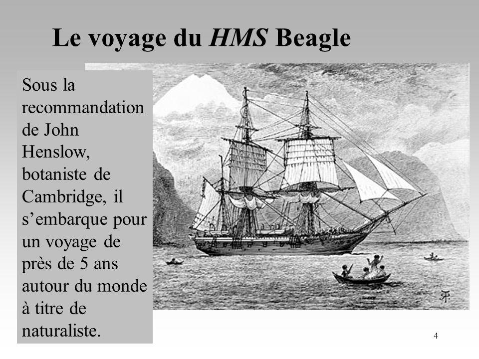 Le voyage du HMS Beagle Sous la recommandation