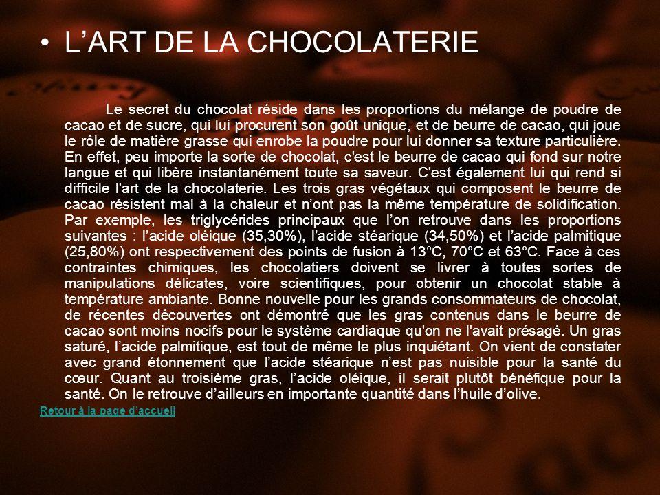 L'ART DE LA CHOCOLATERIE