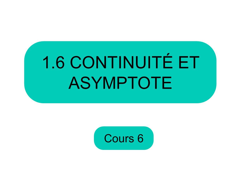 1.6 CONTINUITÉ ET ASYMPTOTE