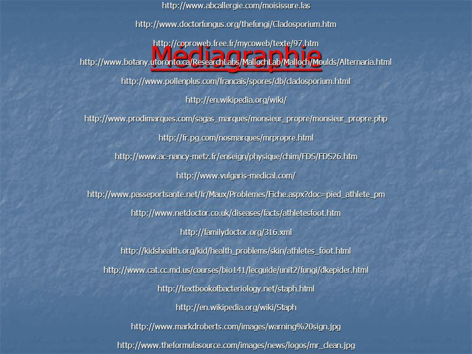 Médiagraphie http://www.abcallergie.com/moisissure.las