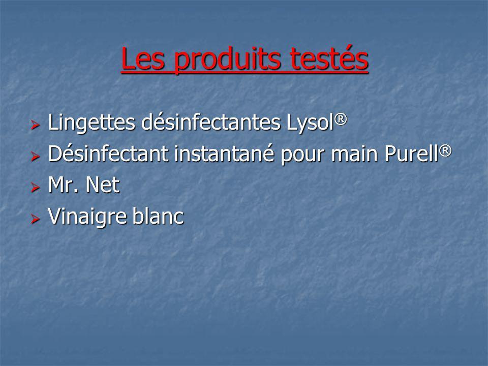 Les produits testés Lingettes désinfectantes Lysol®