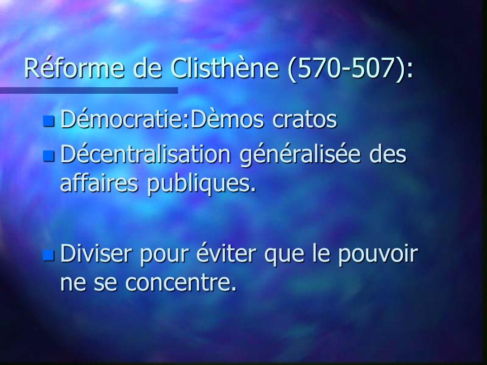 Réforme de Clisthène (570-507):