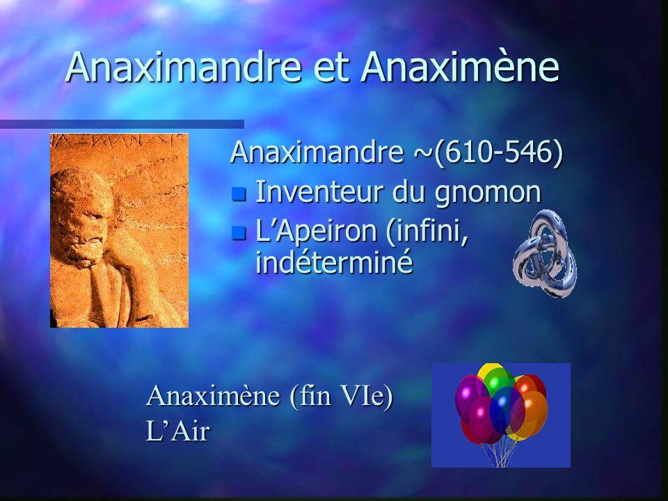 Anaximandre et Anaximène