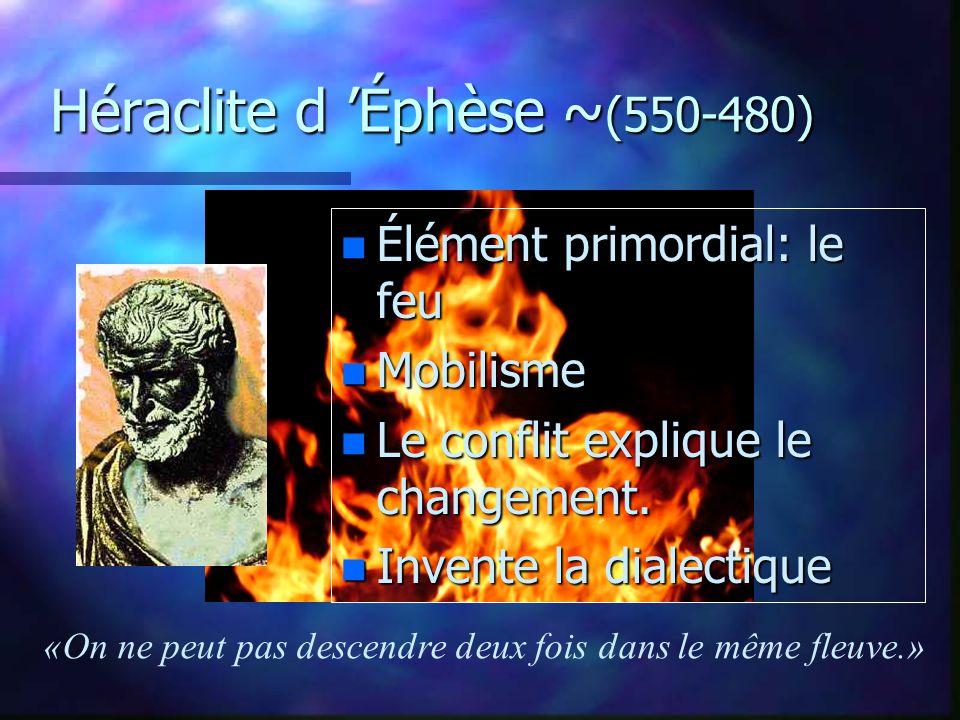Héraclite d 'Éphèse ~(550-480)