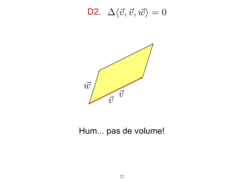 D2. Hum... pas de volume!