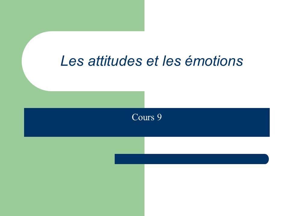 Les attitudes et les émotions