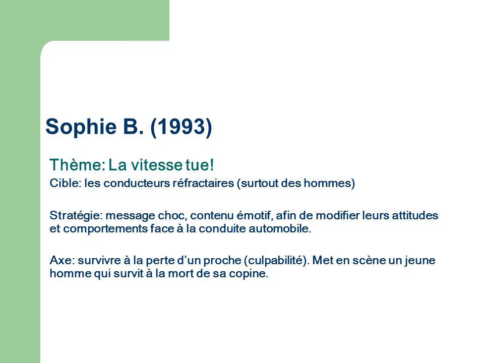 Sophie B. (1993) Thème: La vitesse tue!