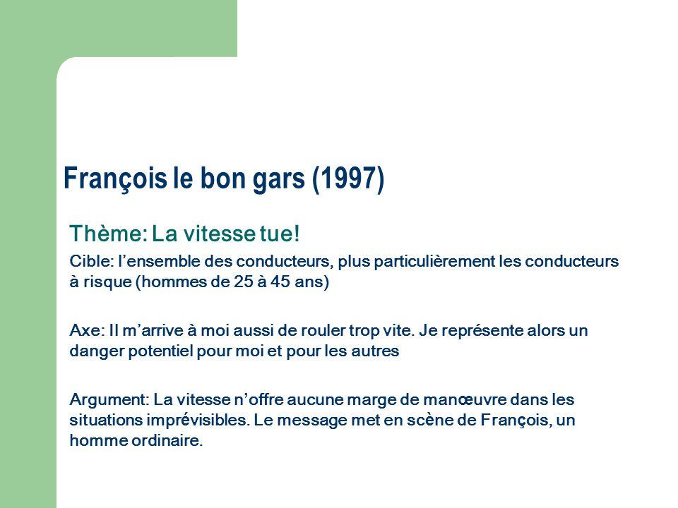 François le bon gars (1997) Thème: La vitesse tue!