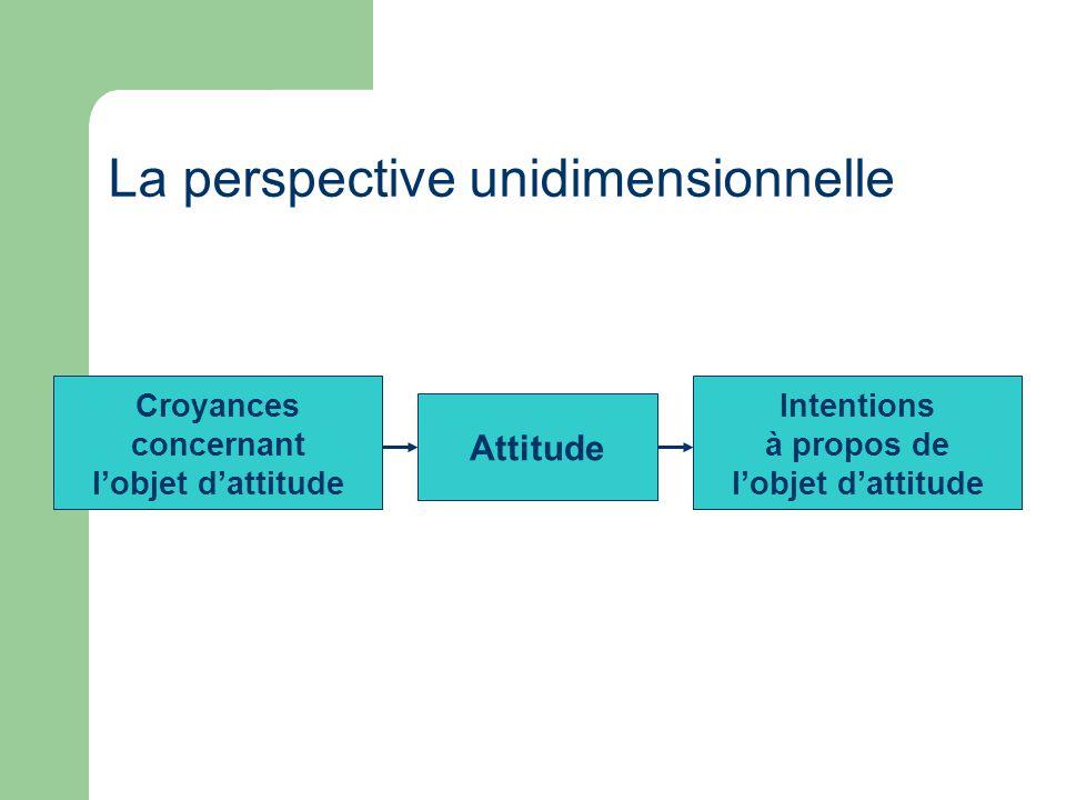 La perspective unidimensionnelle