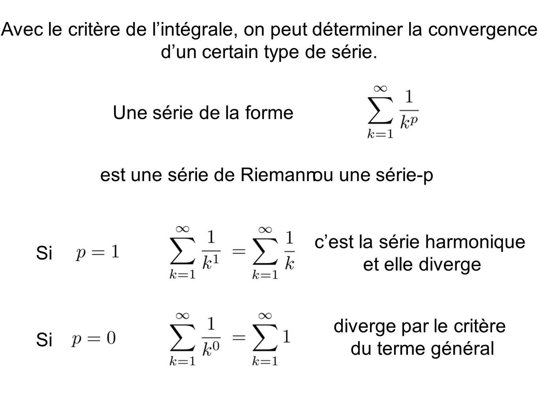 est une série de Riemann ou une série-p
