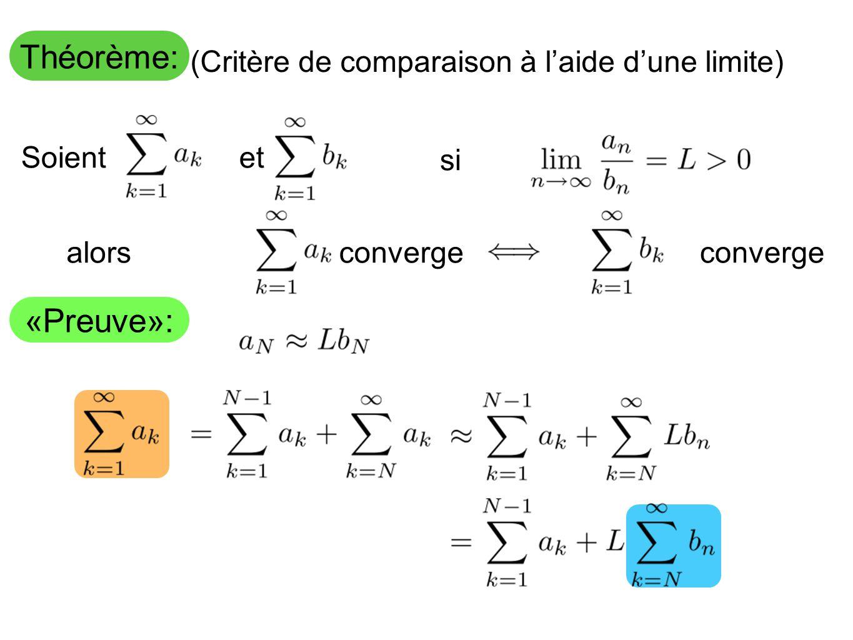 (Critère de comparaison à l'aide d'une limite)