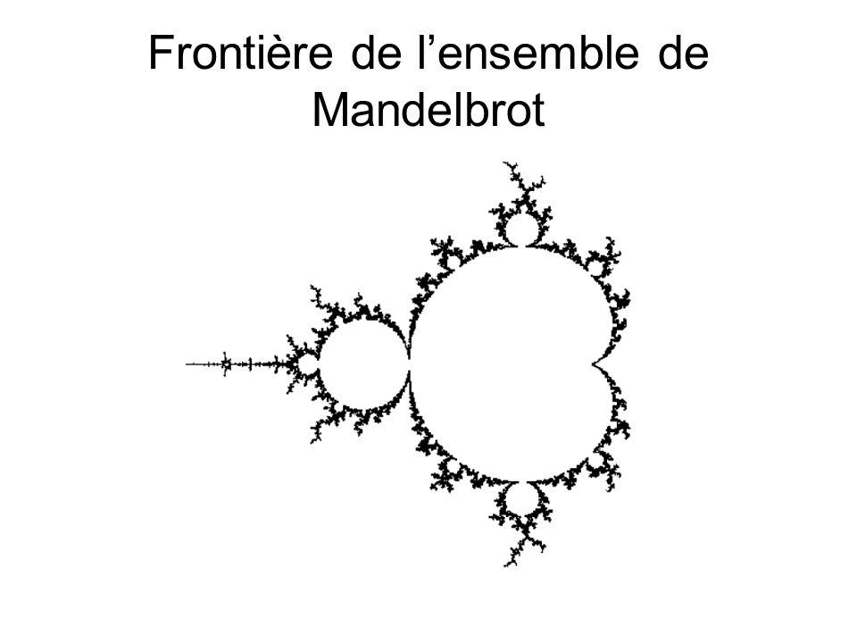 Frontière de l'ensemble de Mandelbrot