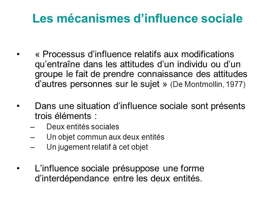 Les mécanismes d'influence sociale