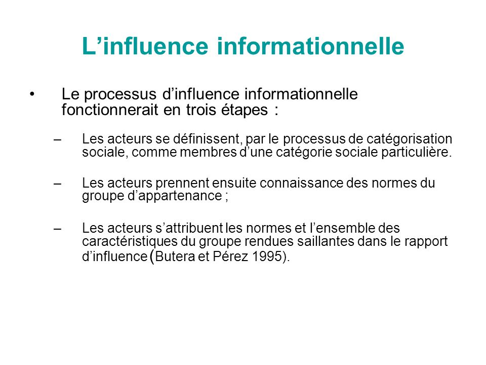 L'influence informationnelle
