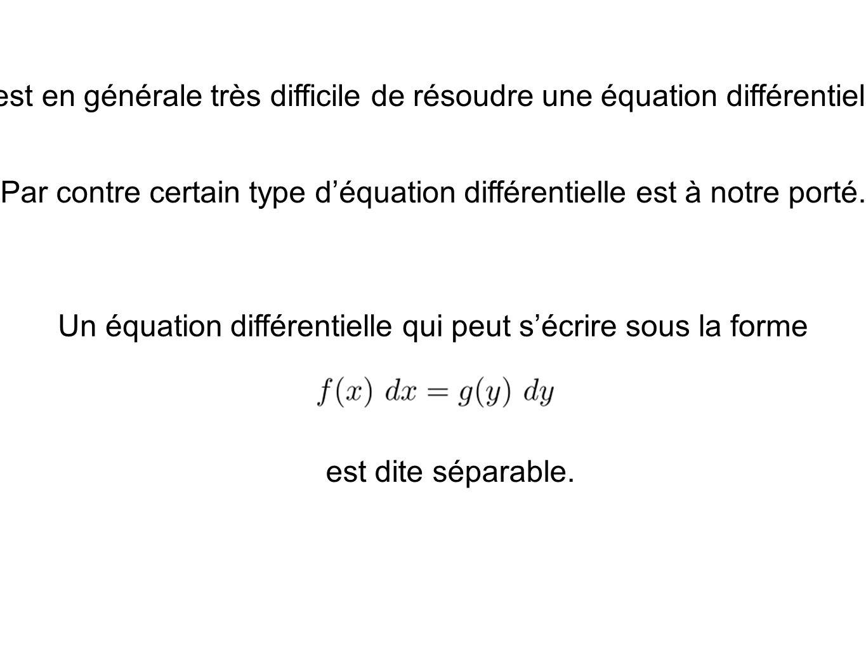 Par contre certain type d'équation différentielle est à notre porté.