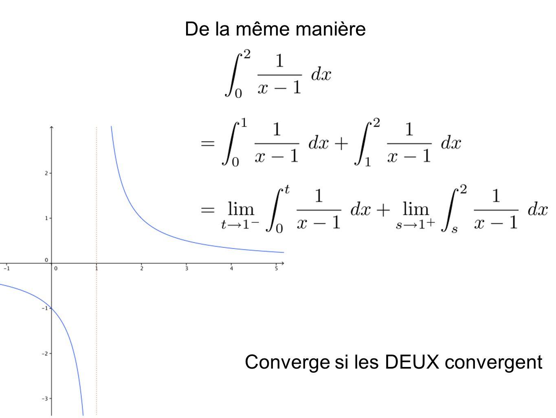 Converge si les DEUX convergent