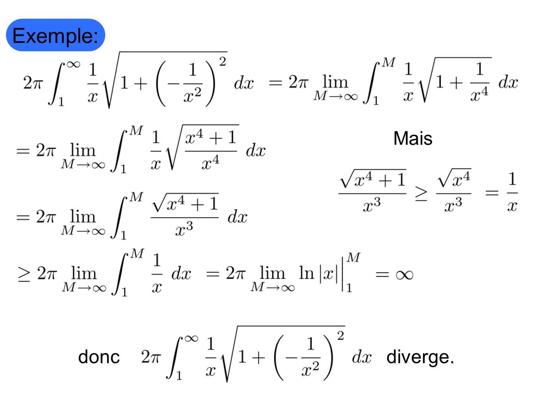 Exemple: Mais diverge. donc