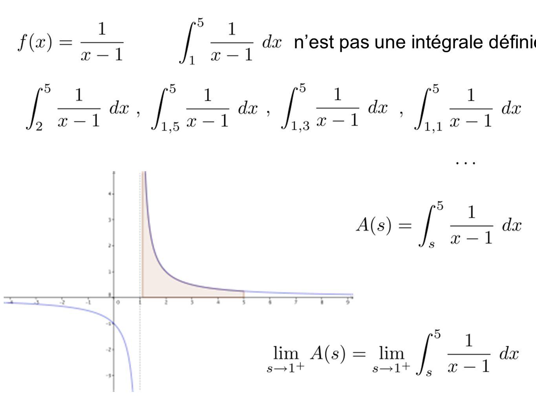 n'est pas une intégrale définie