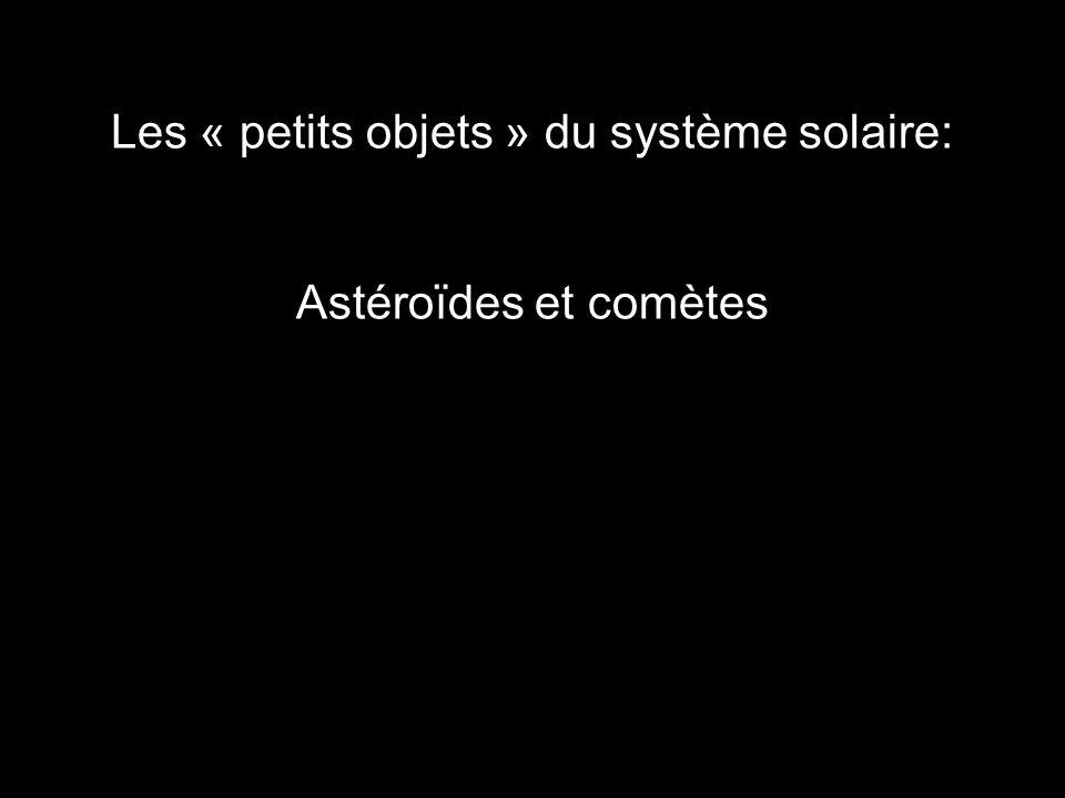 Les « petits objets » du système solaire: