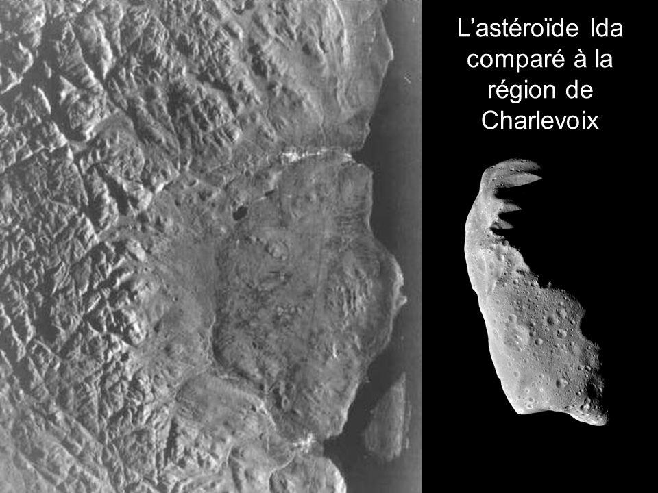 L'astéroïde Ida comparé à la région de Charlevoix
