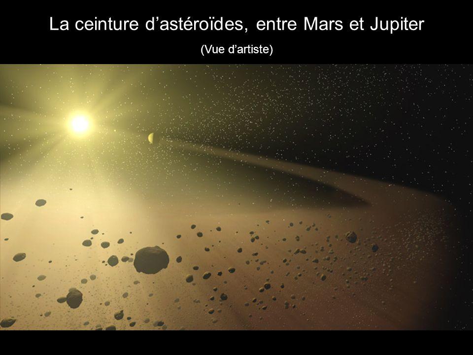 La ceinture d'astéroïdes, entre Mars et Jupiter
