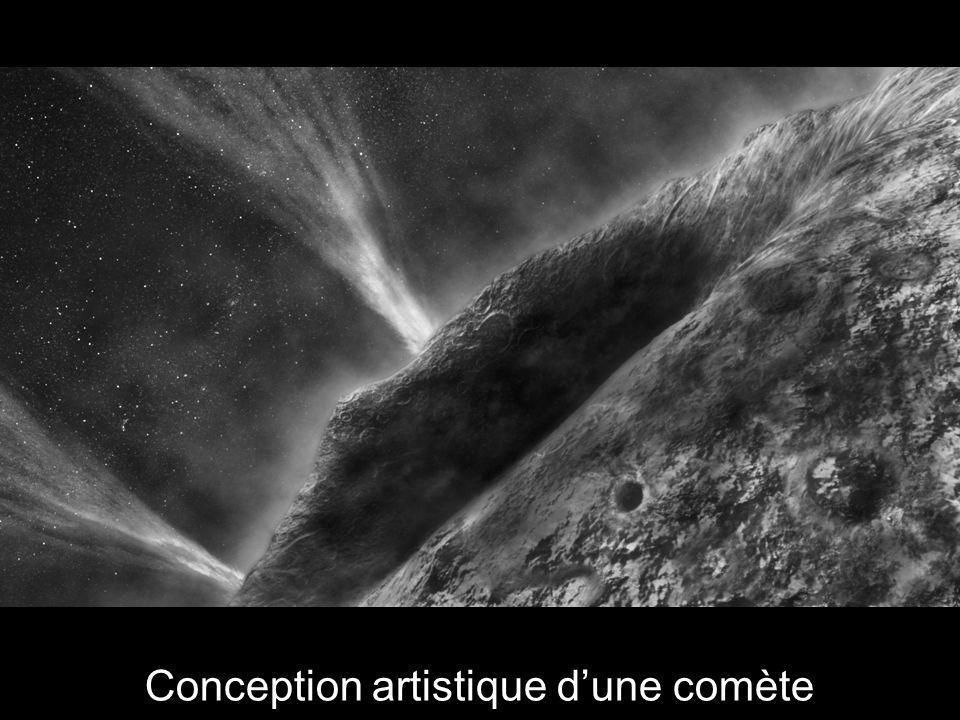 Conception artistique d'une comète
