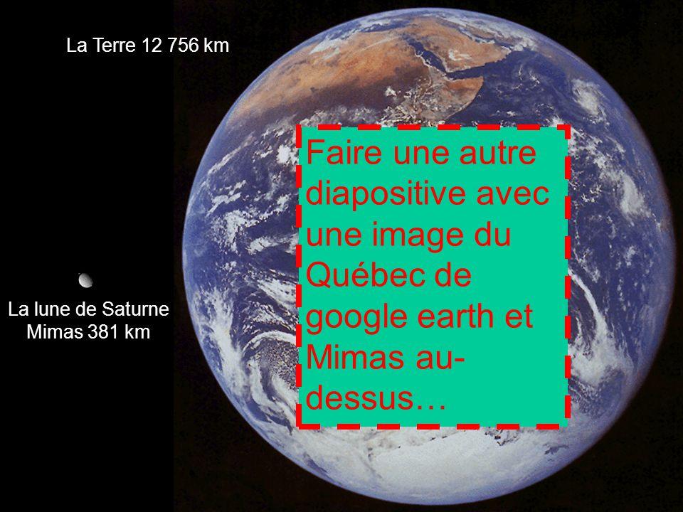 La lune de Saturne Mimas 381 km