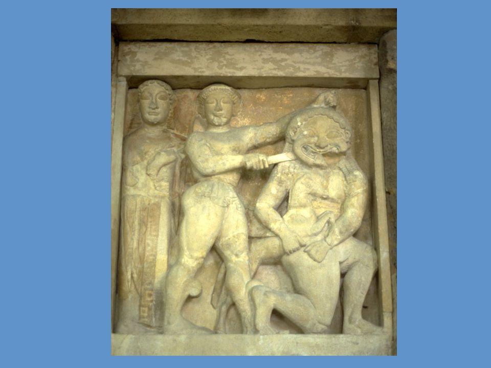 Perseo decapita la Gòrgone Medusa, metopa, VI sec. a. C
