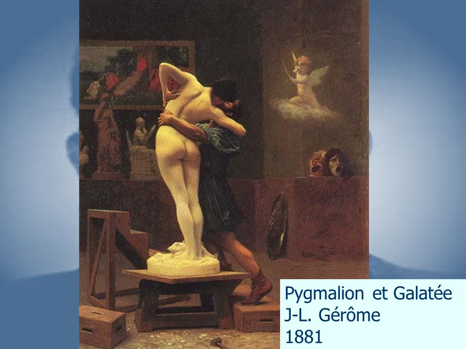 Pygmalion et Galatée J-L. Gérôme 1881