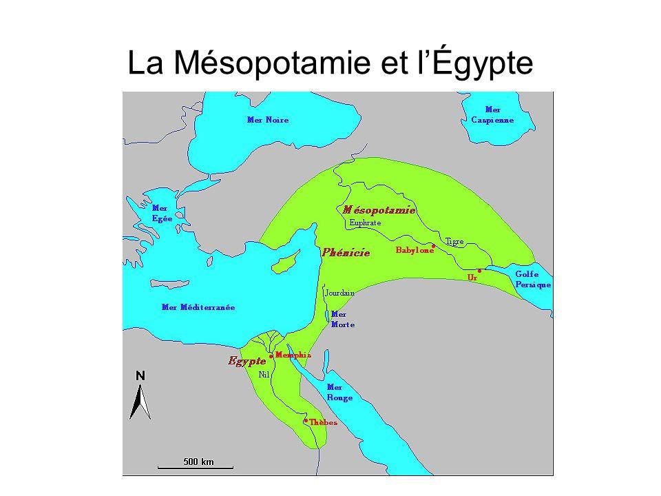 La Mésopotamie et l'Égypte