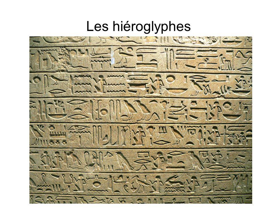 Les hiéroglyphes